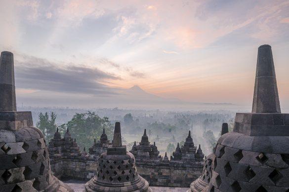 Borobudur Indonesia at sunrise