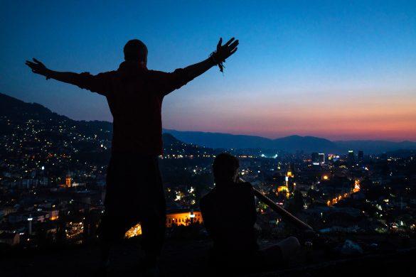 Sarajevo at night