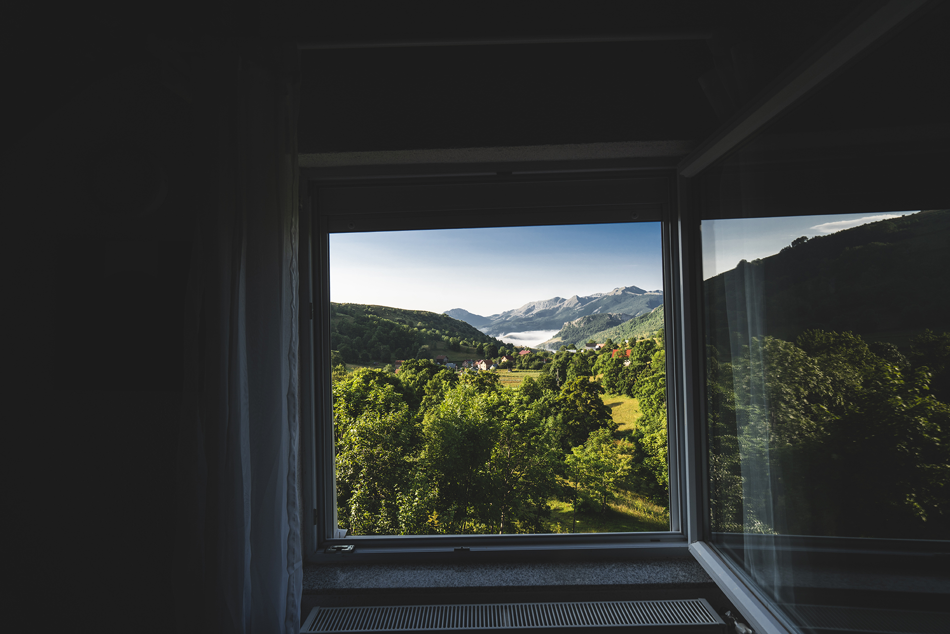 View from the window of my cozy hut