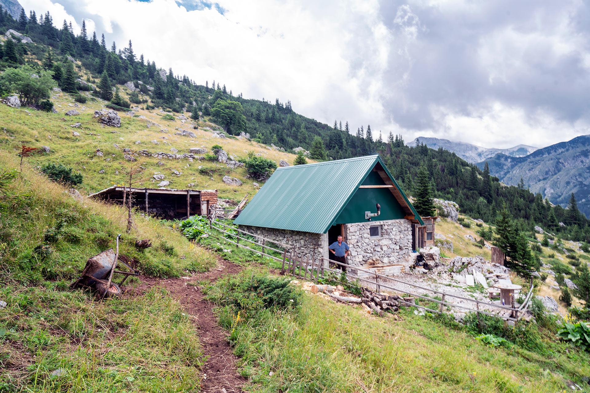Mountain hut at Sutjeska NP