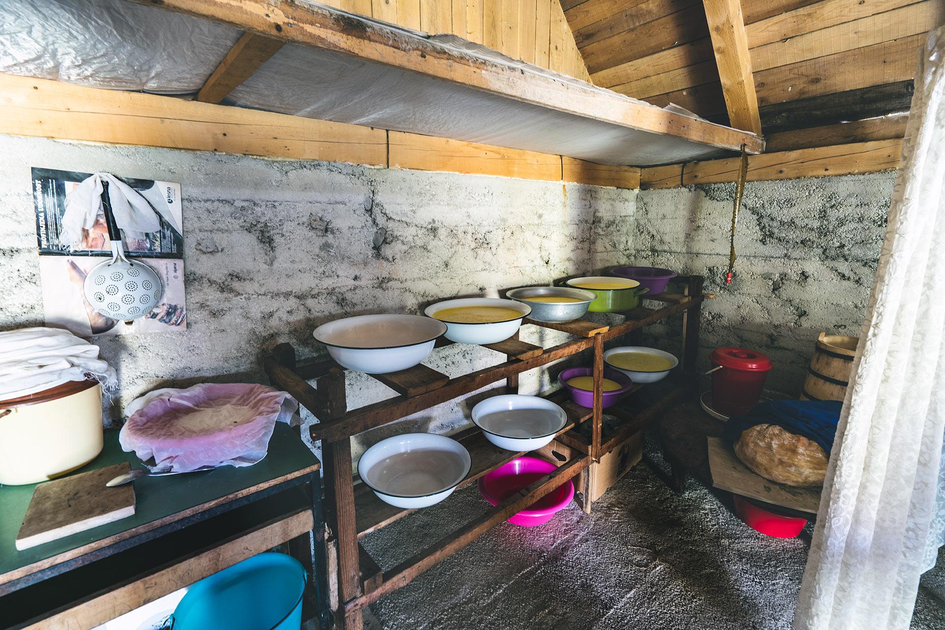 Inside Radovan's hut