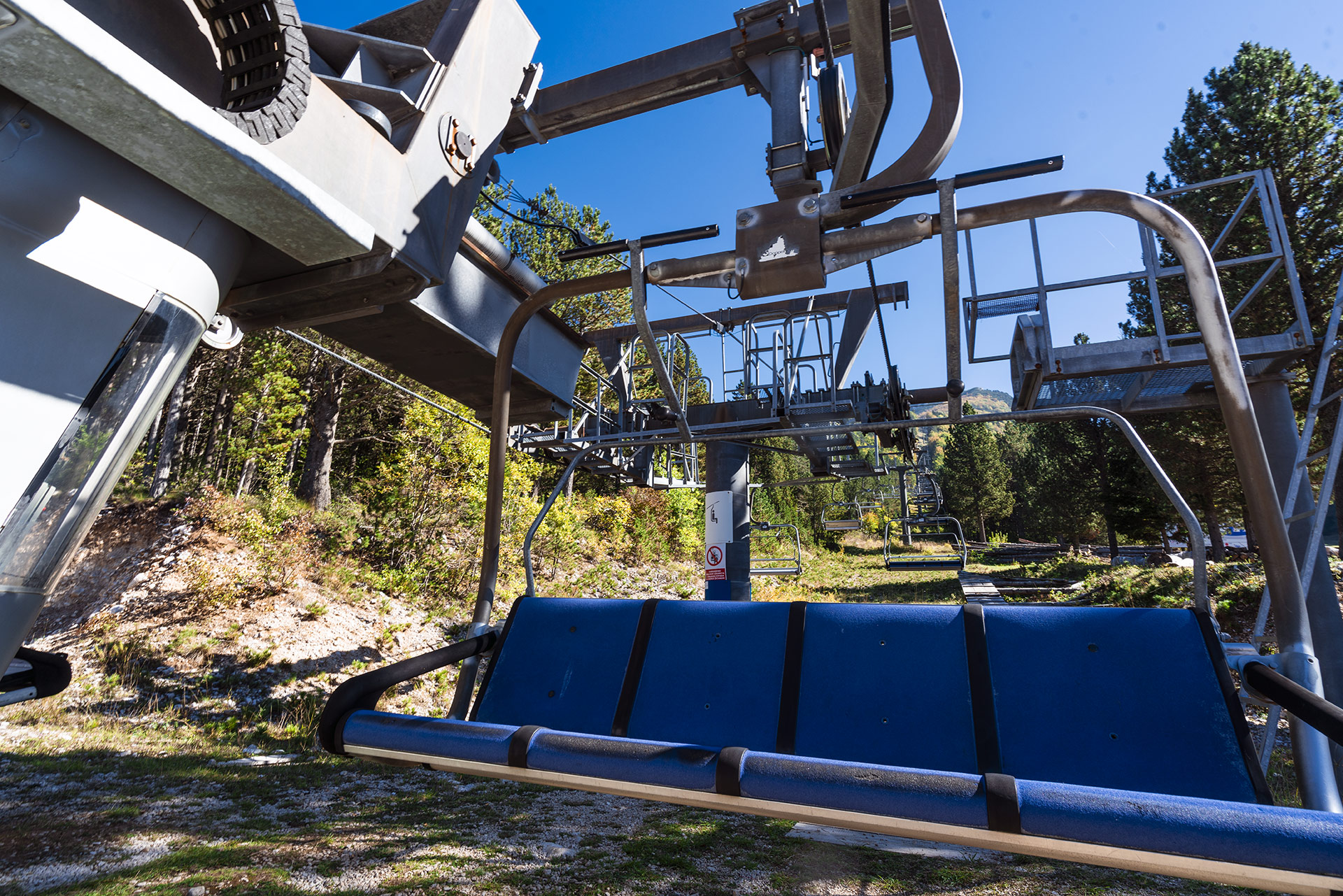Ski lift at Blidinje NP