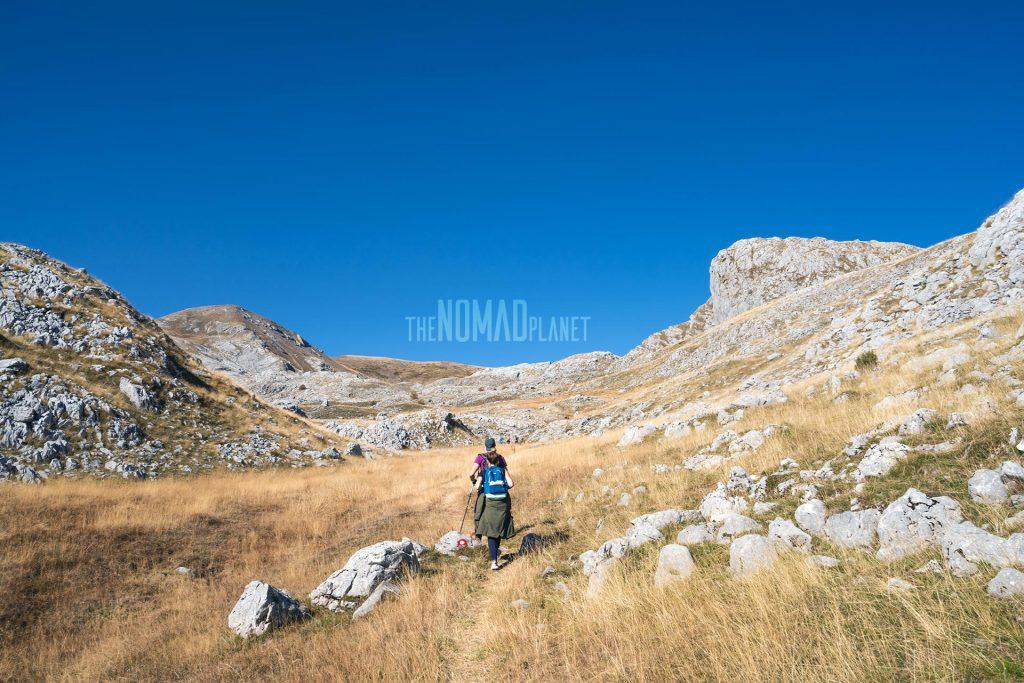 Hiking along Visočica Mountain