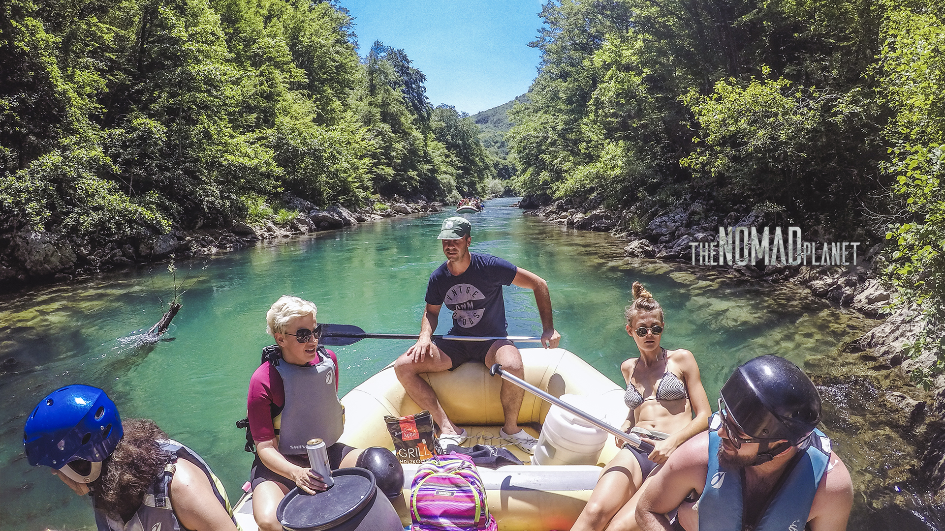 White water rafting on Neretva