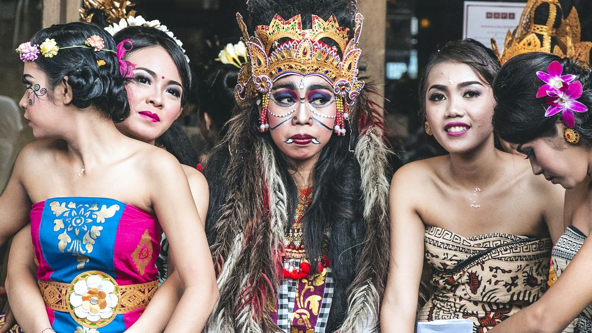 Balinese masked for Nyepi